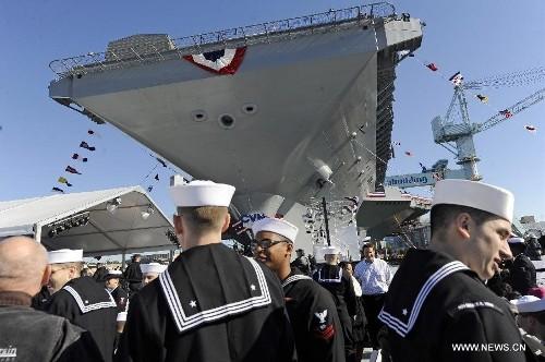 Tàu sân bay USS Gerald R. Ford CVN 78 Mỹ (ảnh tư liệu)