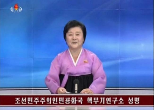Ngày 9/9/2016, Đài truyền hình Triều Tiên xác nhận nước này đã tiến hành vụ thử hạt nhân lần thứ năm. Ảnh: Chinanews