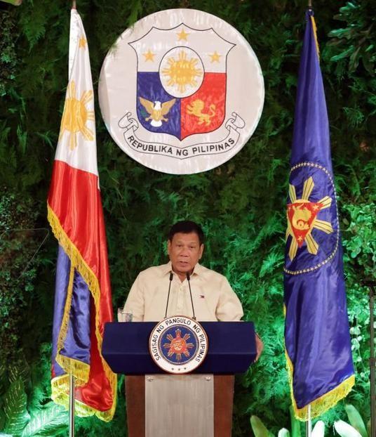 Tổng thống Philippines Rodrigo Duterte. Ảnh: Tin tức Tham khảo, Trung Quốc