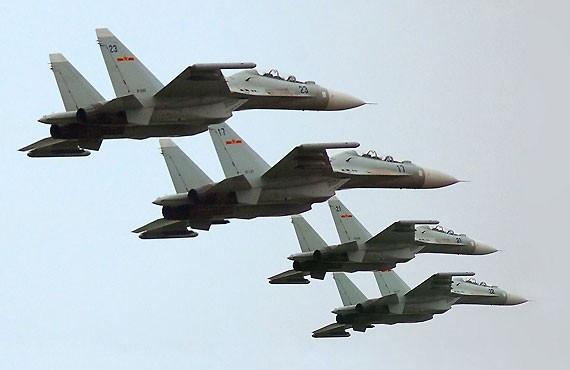 Máy bay chiến đấu J-11 Trung Quốc (ảnh tư liệu)