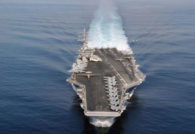 Tàu sân bay USS Ronald Reagan Hải quân Mỹ.