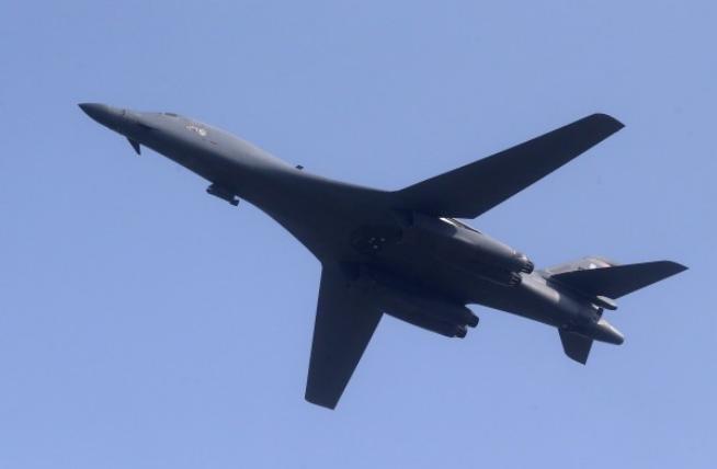 Máy bay ném bom chiến lược B-1 Mỹ. Ảnh: Thời báo Tự do Đài Loan.