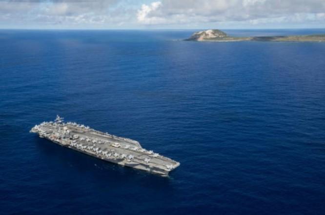 Tàu sân bay động cơ hạt nhân USS Ronald Reagan Hải quân Mỹ (ảnh tư liệu)