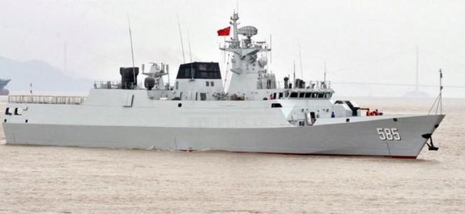Tàu hộ vệ hạng nhẹ Bách Sắc số hiệu 585, Hạm đội Nam Hải, Hải quân Trung Quốc (ảnh tư liệu)