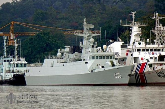 Tàu hộ vệ hạng nhẹ Kinh Môn số hiệu 506 Type 056A biên chế cho Hạm đội Nam Hải, Hải quân Trung Quốc vào tháng 1/2016 (ảnh tư liệu)