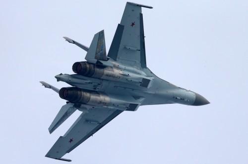 Máy bay chiến đấu Su-35 Nga tại Triển lãm hàng không Chu Hải Trung Quốc năm 2014 (ảnh tư liệu)