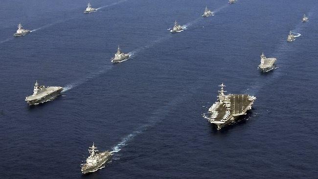 Hải quân Mỹ và Nhật Bản tiến hành tập trận chung ở biển Hoa Đông (ảnh tư liệu)