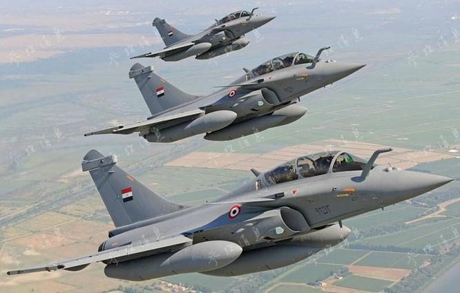 Máy bay chiến đấu Rafale của Không quân Ai Cập. Ảnh: Tin tức Tham khảo.