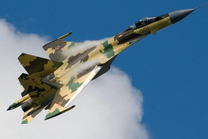 Máy bay chiến đấu Su-35 Nga. Ảnh: Cankao
