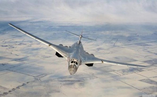 Máy bay ném bom chiến lược Tu-160 Nga (ảnh tư liệu)
