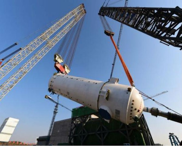 Trung Quốc xây dựng nhà máy điện hạt nhân thế hệ thứ tư đầu tiên trên thế giới ở tỉnh Sơn Đông. Ảnh: Cankao