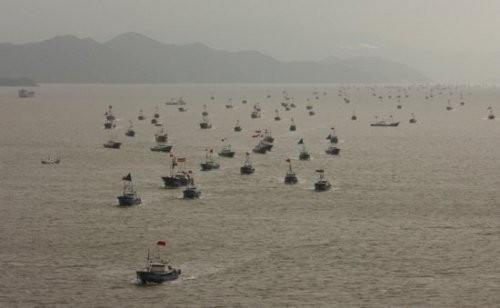 Tàu cá Trung Quốc trên biển Hoa Đông (ảnh tư liệu)