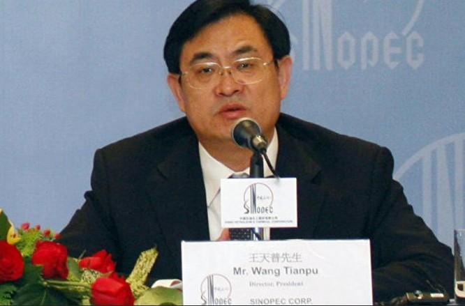 Vương Thiên Phổ, Tổng giám đốc Tập đoàn Hóa chất và Dầu khí Trung Quốc bị điều tra. Ảnh: Sputnik