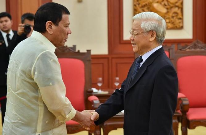 Ngày 29/9/2016, Tổng bí thư Nguyễn Phú Trọng tiếp Tổng thống Philippines Rodrigo Duterte