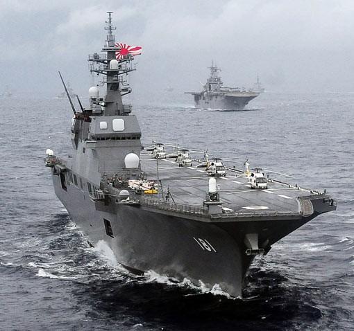 Tàu sân bay trực thăng Hyuga Lực lượng Phòng vệ Biển Nhật Bản (ảnh tư liệu)
