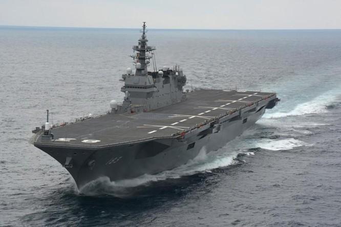 Tàu sân bay trực thăng lớp Izumo Lực lượng Phòng vệ Biển Nhật Bản (ảnh tư liệu)