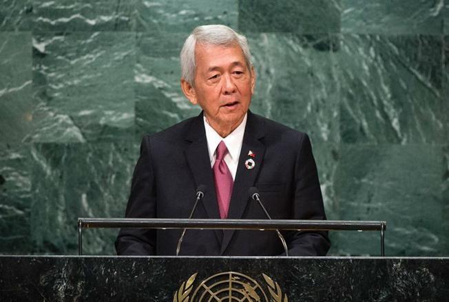 Bộ trưởng Ngoại giao Philippines Perfecto Yasay (ảnh tư liệu)