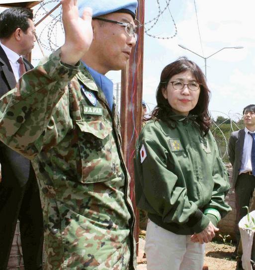 Ngày 8/10/2016, Bộ trưởng Quốc phòng Nhật Bản Tomomi Inada thăm South Sudan. Ảnh: Japantimes