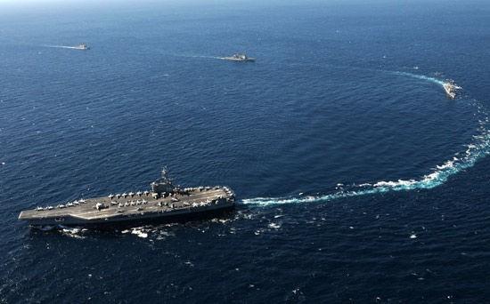 Tàu sân bay USS George Bush CVN-77 Hải quân Mỹ (ảnh tư liệu)