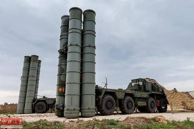 Trận địa tên lửa phòng không S-400 Nga ở Syria. Ảnh: Cankao