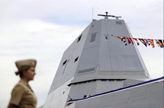 Tàu khu trục Zumwalt Hải quân Mỹ (ảnh tư liệu)