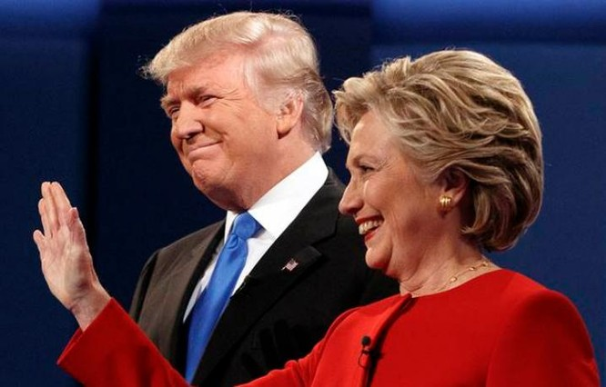 Hai ứng cử viên Tổng thống Mỹ Donald Trump và Hillary Clinton. Ảnh: The Indian Express