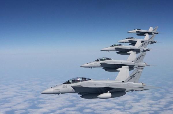 Máy bay chiến đấu F/A-18 Super Hornet Hải quân Mỹ (ảnh tư liệu)