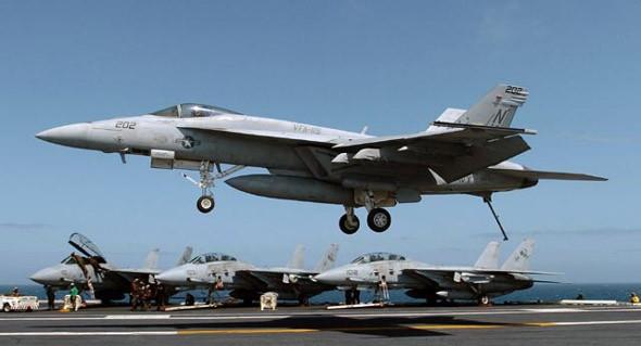 Máy bay chiến đấu F/A-18 Hornet Hải quân Mỹ (ảnh tư liệu)