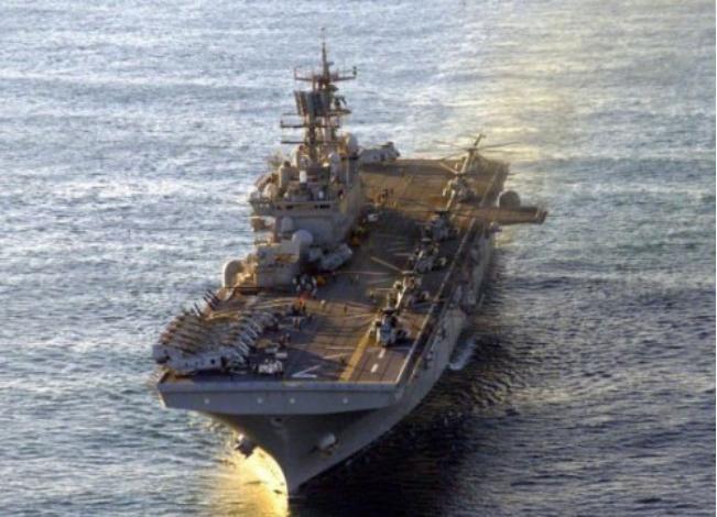 Tàu tấn công đổ bộ USS Wasp Mỹ. Ảnh: Chinanews