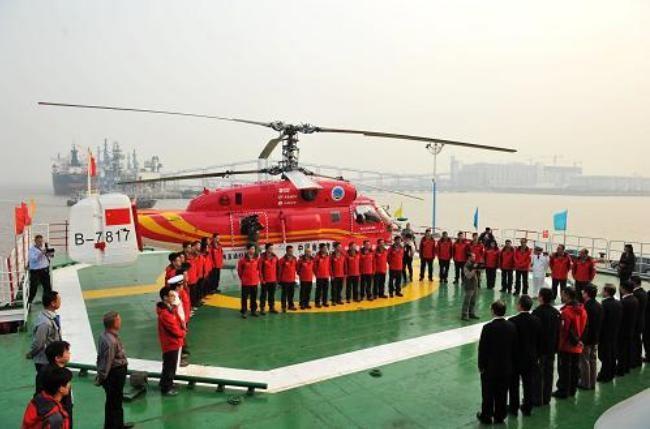 Máy bay trực thăng Tuyết Ưng 12 biên chế ngày 6/11/2013. Ảnh: Gov.cn