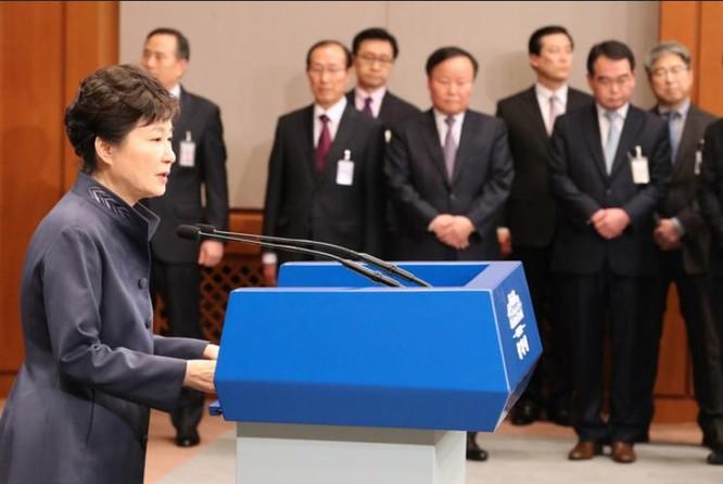 Tổng thống Hàn Quốc Park Geun-hye. Ảnh: Thời báo Hoàn Cầu