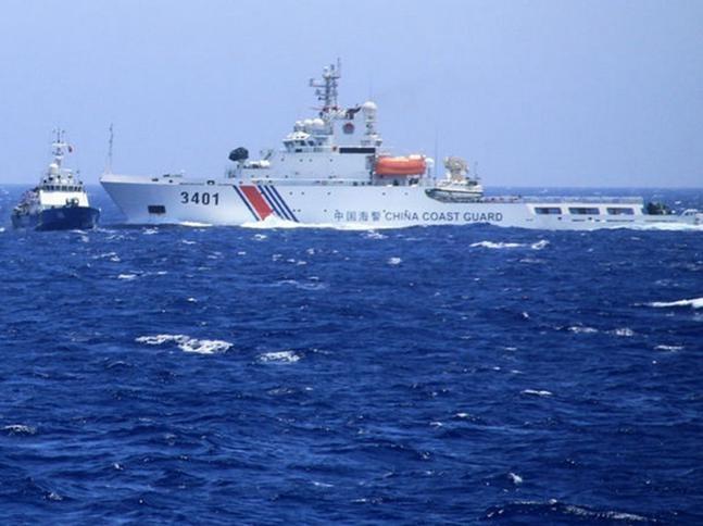 Tàu cảnh sát biển Trung Quốc. Ảnh: Tân Hoa xã