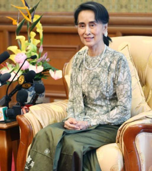 Bà Aung san Suu kyi, Cố vấn Nhà nước kiêm Bộ trưởng Ngoại giao Myanmar. Ảnh: Cankao