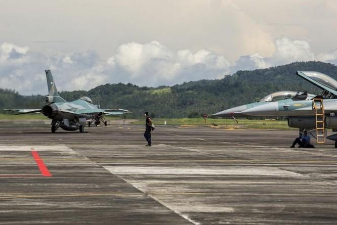 Máy bay chiến đấu F-16 Không quân Indonesia tham gia cuộc tập trận Cope West 17 với Mỹ. Ảnh: DVIDS