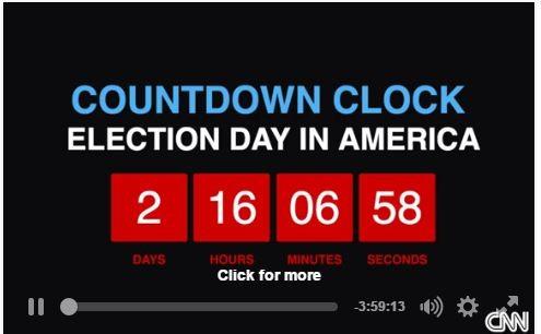 Đồng hồ đếm ngược chỉ sự kiện bầu cử Mỹ (ảnh CNN)