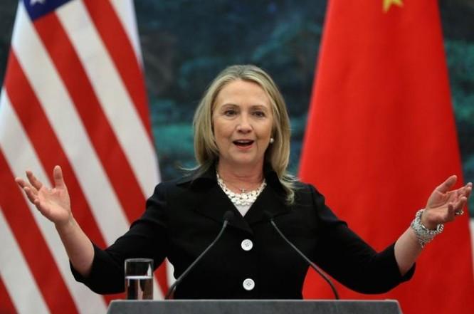 Bà Hillary Clinton tại Bắc Kinh vào tháng 9/2012. Ảnh: VOA