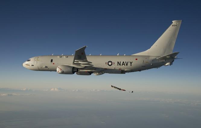 Máy bay tuần tra săn ngầm P-8A Hải quân Mỹ (ảnh tư liệu)