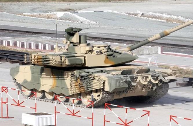 Xe tăng chiến đấu T-90MS Nga. Ảnh: Xinmin