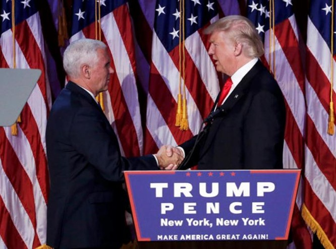 Ông Donald Trump và phó tướng Mike Pence