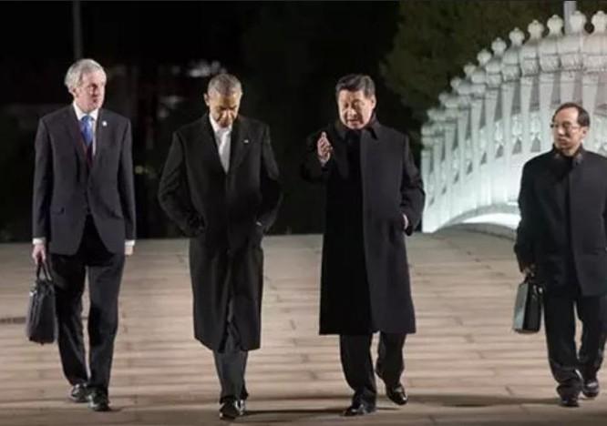 Tổng thống Mỹ Barack Obama và Chủ tịch Trung Quốc Tập Cận Bình. Ảnh: Báo Nhân Dân, Trung Quốc.