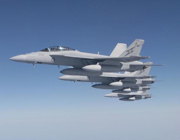 Máy bay chiến đấu F/A-18 Super Hornet Mỹ (ảnh tư liệu)