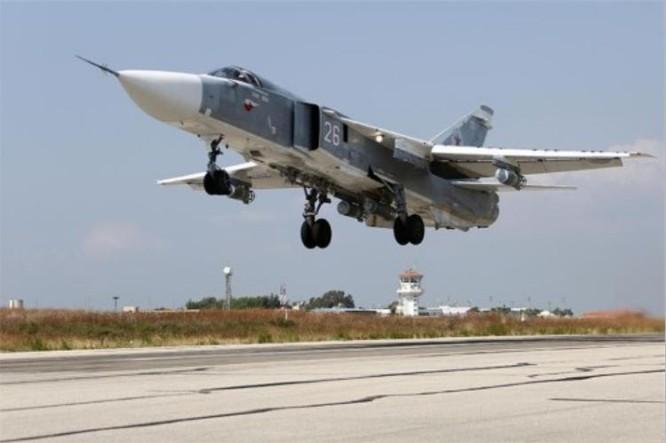 Máy bay chiến đấu Nga trên chiến trường Sirya. Ảnh: Sina