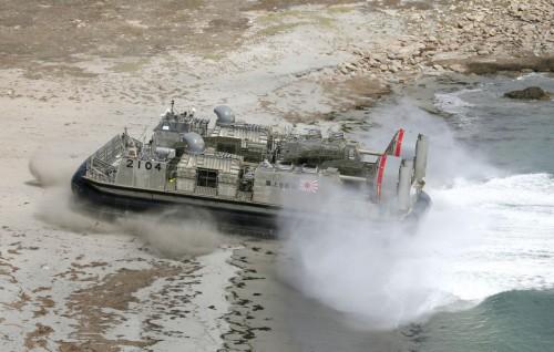 Lực lượng Phòng vệ Biển Nhật Bản tiến hành diễn tập đổ bộ (ảnh tư liệu)