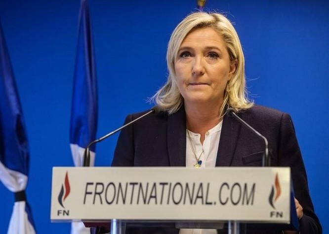 Bà Marine Le Pen, lãnh đạo Đảng Mặt trận Quốc gia (FN) Pháp. Ảnh: The New York Times