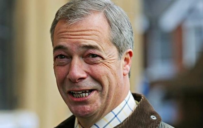 Ông Nigel Farage, lãnh đạo Đảng Độc lập (UKIP) Anh. Ảnh: The Guardian