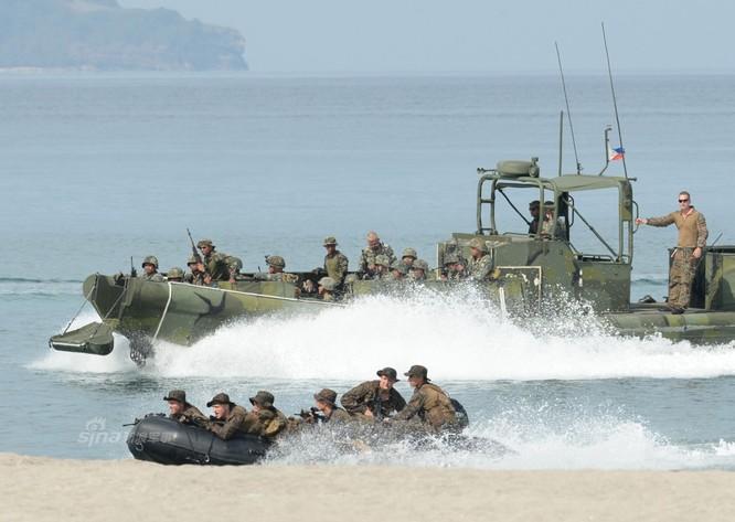 Quân đội Philippines và Mỹ sẽ chấm dứt tiến hành tập trận đổ bộ liên hợp (ảnh tư liệu)