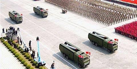 Tên lửa tầm ngắn của Triều Tiên (ảnh tư liệu)