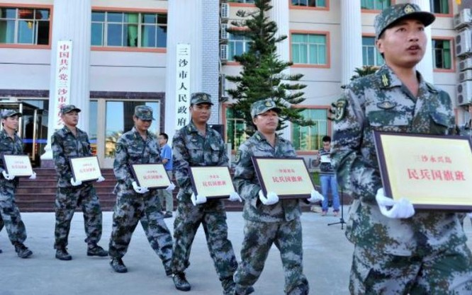 Trung Quốc thành lập và triển khai bất hợp pháp dân quân trên Biển Đông. Ảnh: Cankao