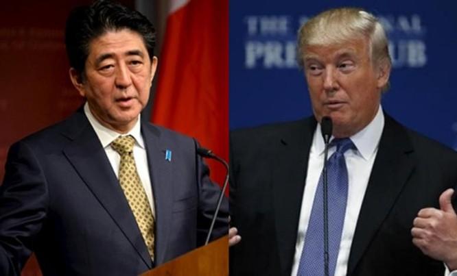 Tổng thống đắc cử Donald Trump và Thủ tướng Nhật Bản Shinzo Abe (ảnh tư liệu)