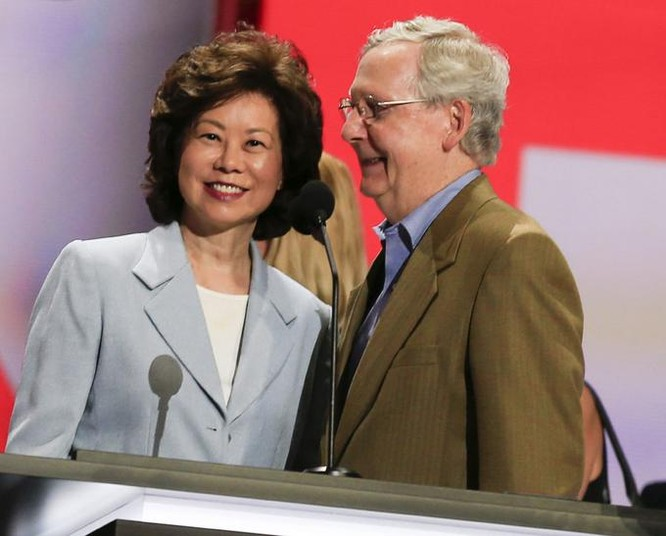 Bà Triệu Tiểu Lan, người gốc Hoa, được Tổng thống đắc cử Donald Trump chọn làm Bộ trưởng Giao thông Mỹ. Ảnh: myhealthbowl